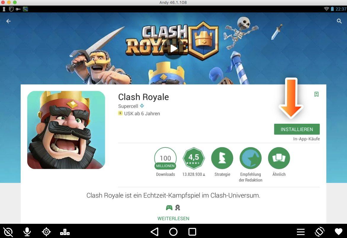 instalar clash royale windows 7